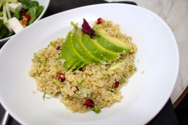 Quinoa sprouts, avocado, pomegranate and coriander by Naomi's Kitchen @CelinaLafuenteDeLavotha