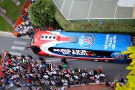 Paris team arriving to the Monaco stadium @CelinaLafuenteDeLavotha