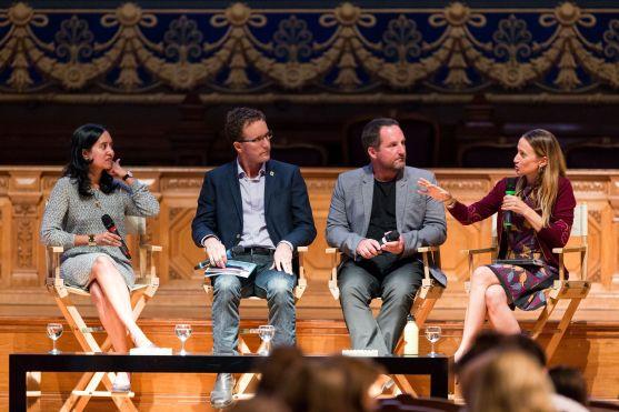 Anisa Costa, Jason de Cairnes Taylor and Celine Cousteau @BLUE2015Monaco