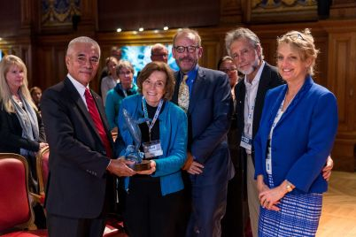 President Anote Tong, Sylvia Earle, Greg Stone, Charles and Debbie Kinder @BLUE2015Monaco