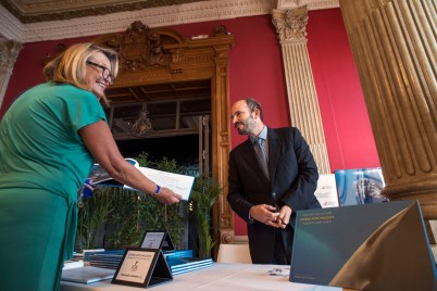 Prince Hussain Aga Khan at the signing of his book Diving into the Wildlife @Miichel Dagnino BLUE2015Monaco