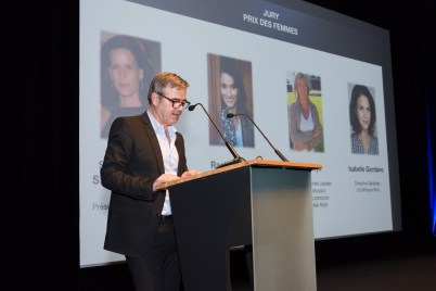 Marc Oberon presenting the Jury of the Women's Prize @Richard Concept Photo