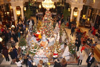 The ensemble of Christmas Trees to be auction for the benefit of Action Innocence @CelinaLafuenteDeLavotha