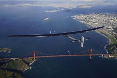 Solar Impulse overflying the Golden Gate bridge in S. Francisco, April 24, 2016 @Solar Impulse / Revillard / Rezo ch