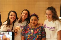 Rigoberta Menchu with Monaco students @Christine Wu