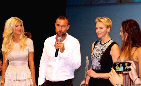 Victoria Silvstedt, Philipp Plein, Princess Charlene and Federica Nardoni Spinetta MCFW 2016 @CelinaLafuenteDeLavotha 2