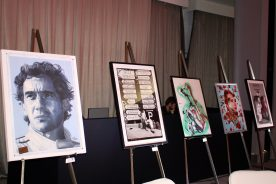 Artworks displayed during the art auction @CelinaLafuentedeLavotha 2016