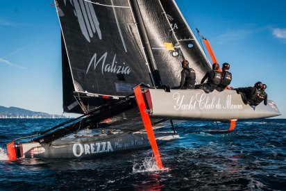Malizia skipped by Pierre Casiraghi, Winter Sports Boat winter series, December 2016 @Mesi