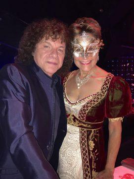 Richard Cocciante and Celina Lafuente de Lavotha at the Grand Masked Ball of Venice in Monte-Carlo