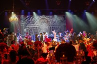Richard Cocciante and all the participating performers on stage during the finale of the Grand Masked Ball of Venice in Monte-Carlo 2017 @Iulian Giurca