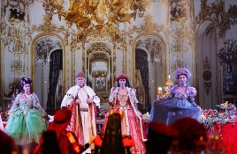 The Doge of Venice and his cohort at the Grand Masked Ball of Venice in Monte-Carlo 2017 @Iulian Giurca