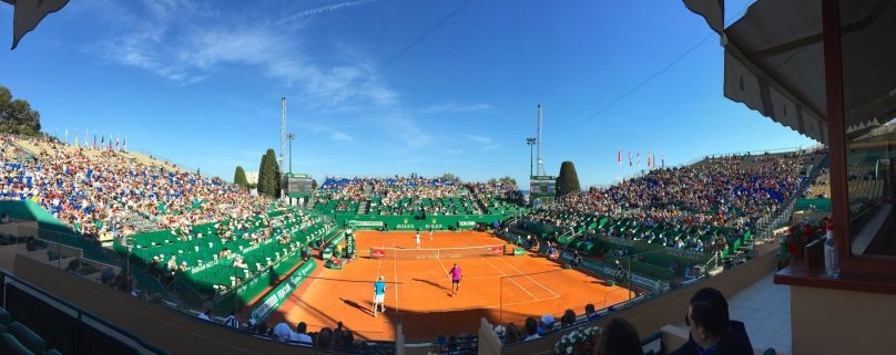 Full stadium during the doubles match, Monday, April 16, 2017 MCRM @CelinaLafuentedeLavotha