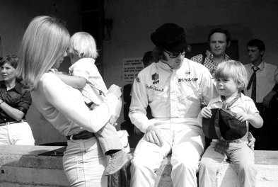 Sir Jackie Stewart (GBR) Matra, and his family