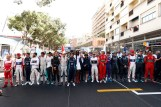 All the pilots of the E-Championship in Monaco with supermodel Naomi Campbell