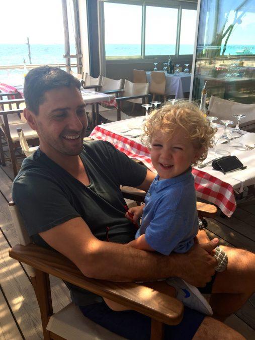Lionel with charming Leon @CelinaLafuentedeLavotha