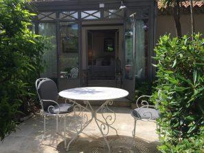 The terrace in the garden @CelinaLafuentedeLavotha