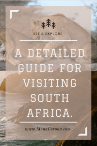 A detailed guide & Itinerary for visiting South Africa. #CapeTown #GardenRoute #KrugerNationalPark #Safari