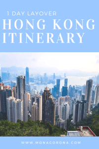 1 day layover hong kong itinerary