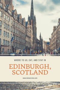 Click here for a complete Edinburgh travel guide! In this guide you will unique and interesting things to do in Edinburgh, as well as the main attractions and top things to do you Edinburgh. That's not all! Find out where to eat and best restaurants in Edinburgh, and where to stay in Edinburgh, and the best time to visit Edinburgh, Scotland | MonaCorona.com | #edinburgh #scotland #travel #itinerary #travelguide #wanderlust #traveltips #travelinspo #hotels #fringefestival #pubs #restaurants