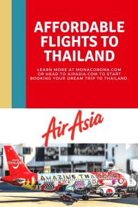 Click this pin to read about Air Asia's affordable flights to Thailand in this Bangkok travel guide   MonaCorona.com   @TakeMeTour   #bangkok #thailand #travelguide #hotels #travel #floatingmarket #thingsdoinbangkok #shoppinginbangkok #tours #itinerary #bangkokitinerary #rooftopbar #restaurant #rooftop #cheapflights #airasia
