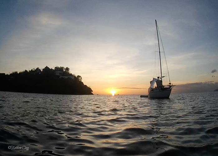Sunset at Anse Mitan Martinique