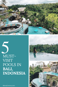 Traveling to Bali soon? Click here to see the top most amazing infinity pools in Bali, Indonesia | MonaCorona.com | Things to do in Bali | Bali Bucket List | #Bali #thingstodoin #hotels #beaches #travel #wanderlust #bucketlist #vacation #honeymoon #ubud #seminyak #itinerary #uluwatu #instagram #canggu #indonesia #tips #beachclub #infinitypool #villa #resorts #restaurants #holiday