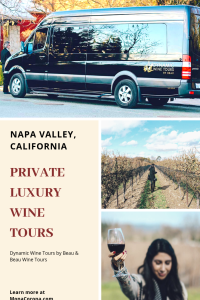 Click here for a Napa Valley Travel Guide and review of a luxury Napa Valley wine tasting tour. In this guide you will also learn where to stay in Napa Valley, & the best things to do in Napa Valley, California. | MonaCorona.com | #napavalley #calistoga #yountville #travel #hotels #wineries #winetasting #itinerary #honeymoon #romanticgetaway #restaurants #vacation #california #usa #wheretostayin #thingstodoin #girlstrip #bacheloretteparty #wanderlust #bucketlist #travelguide