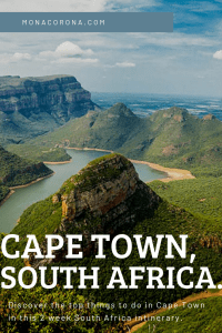 Click to read the ultimate 2 week South Africa Itinerary. Learn about the top things to do in Cape Town such as hiking lions head, table mountain, and exploring the best beaches in Cape Town. In this blog you'll also learn about where to stay in Cape Town / Best hotels in Cape Town & more. This South Africa travel guide also includes a garden route itinerary, Stellenbosch (+ Stellenbosch hotels) as well as a luxury safari in Kruger National Park! #southafrica #capetown #travel #africa #itinerary