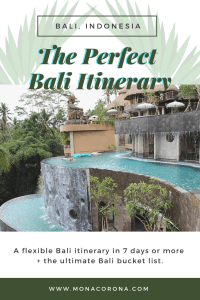 Best Bali Itinerary 7 days 10 day Bali itinerary 1 or 2 week Bali itinerary Bali Travel Guide Where to go in Bali Where to stay in Bali Top things to do in Bali Bali Bucketlist Bali hotels Where to eat in Bali Restaurants Ubud Itinerary Ubud hotels Things to do in Ubud Where to eat in Ubud restaurants Bali swing Seminyak Itinerary Things to do in Seminyak Seminyak hotels Where to eat in Seminyak restaurants Canggu Uluwatu Tegallalang #bali #travel #seminyak #ubud #canggu #uluwatu #itinerary