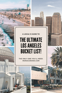 The only Los Angeles bucket list you'll need to create the best Los Angeles intinerary! This LA travel guide covers the top things to do in Los Angeles, where to stay in Los Angeles, Best Los Angeles, Restaurants, LA beaches, LA hikes, and so much more. From Downtown LA, Little Tokyo, to Echo Park, Silverlake, Hollywood / Weho, Melrose, Mid-city, Venice Beach, Santa Monica, and Malibu. Los Angeles, California things to do, LA food, best LA neighborhoods #travel #usa #losangeles #california