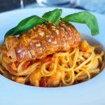 La Saliere Monaco Restaurant pasta for dinner