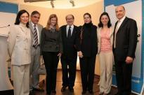 Os jornalistas Paulo Markum e Mona Dorf em Evento realizado pela Microsoft e Editora Abril