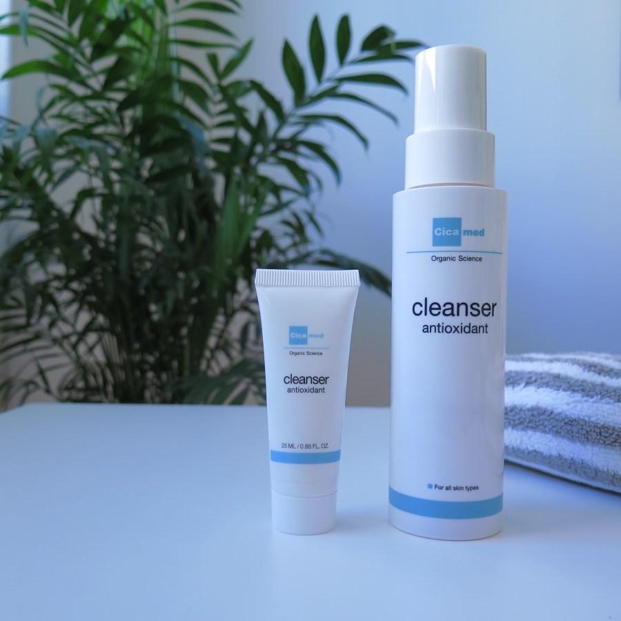 Cicamed Cleanser Antioxidant Full Size and Travel Size