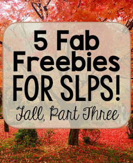 Fall Freebies for Speech Therapy!