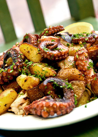 Octopus with Potatoes  Monahans Seafood Market  Fresh