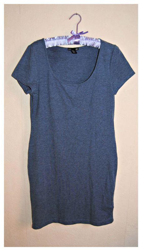 robe bleu h&m