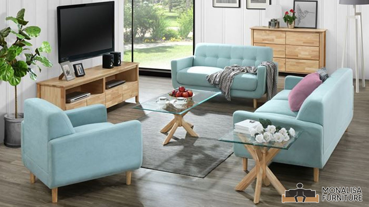 Bella Sofa Set Cyan 3 2 1 Monalisa Furniture