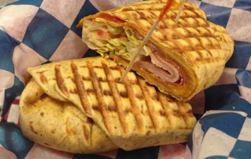 Delicious Fresh Grilled Panini at Mona Lisa's Gelato located in Johnson City, TN