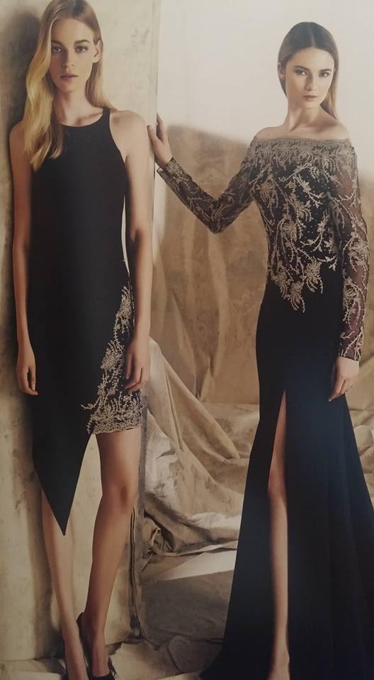 robe libanaise noire à motifs