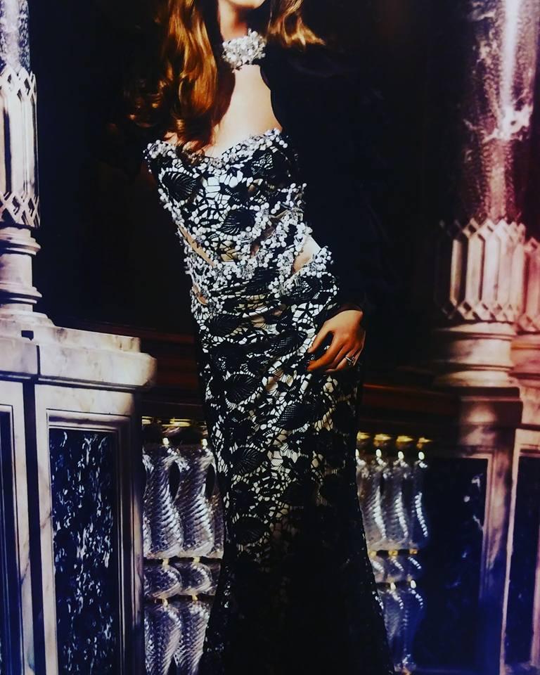 robe libanaise noire et argent