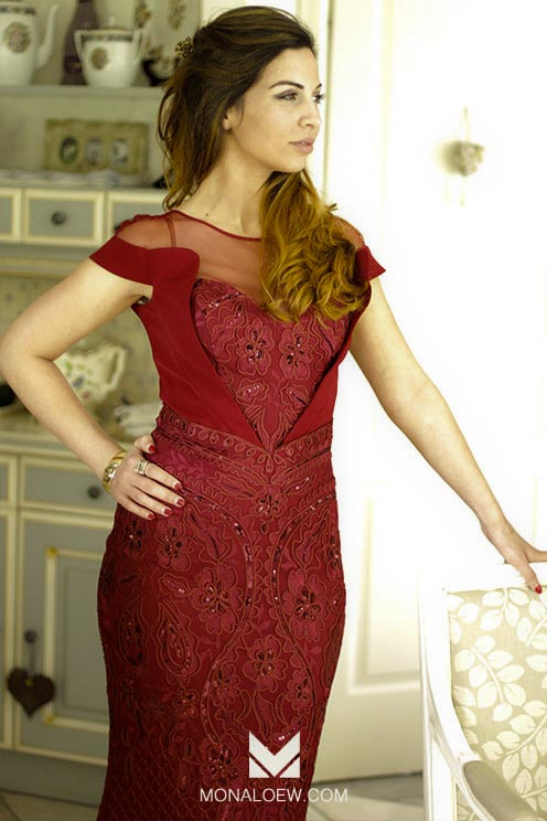 robe bordeau libanaise sirène écaille transparente manche courte sexy longue moulante style haifa wehbe orientale