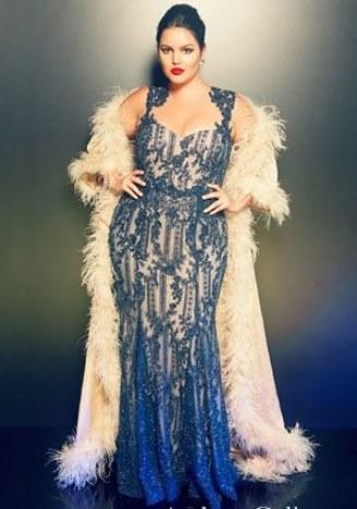 robe orientale bleu grande taille