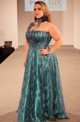 robe orientale bustier bleu grande taille
