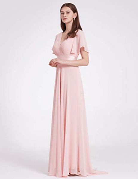 Robe demoiselle d'honneur rose pastel