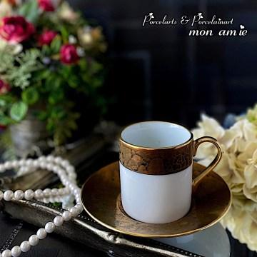 MY作品 クラックゴールドのカップ&ソーサー