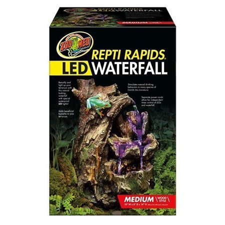 Zoo Med Repti Rapid Cascada con LED SM Wood Style 25 x 20 x 36cm