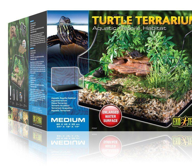 Turtle Terrarium Medium 60 x 45 x 30/45cm