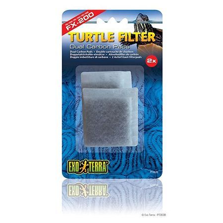 Exo Terra Turtle Filter Dual Carbon Pads 2pc PT3638