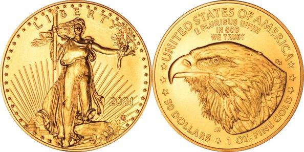 2021 Type 2 American Gold Eagle 1 oz