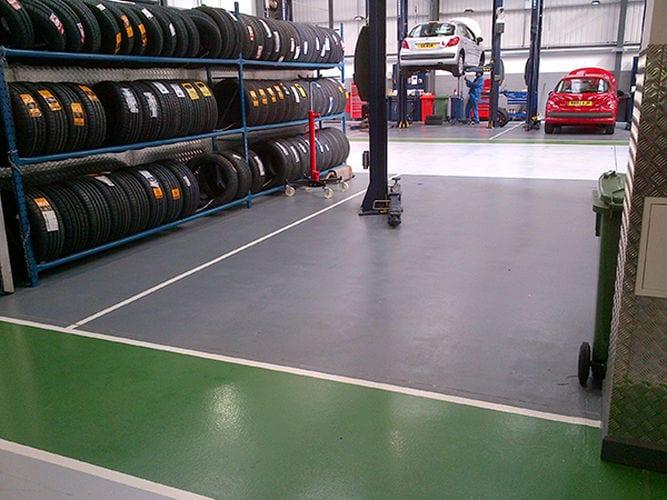 Monargrip - Automotive flooring - Monarch resin flooring UK